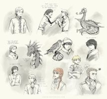 Temeraire sketches by Rinian
