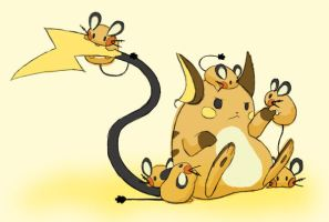 Raichu and Dedenne
