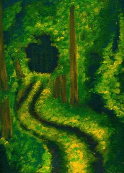 Forest Path by uhavepaintonyourface