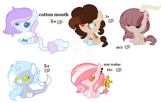 ADOPTABLES MLP by Blueshadowthepony
