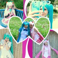 Vocaloid girls by Dark----ookami