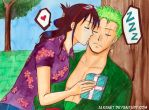 Happy birthday Zoro - Zoro x Tashigi by Alkanet