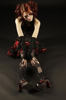 Black gothic doll stock 01 by GillianStock