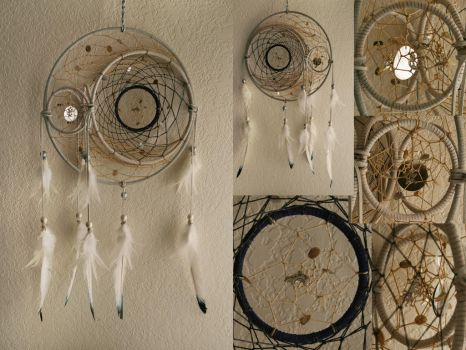 Moon and Star Dreamcatcher by XylidineGriffin