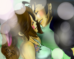 Zack and Aerith (FF VII) by uekiOdiny