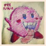 Napkin Art #88 - Kirby Goes All Boo - Nintendo by PeterParkerPA