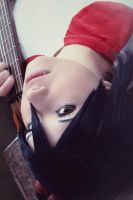 K-on! - Azusa and her Guitar by yummy--chan