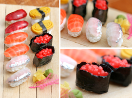 Miniature Sushi by szekei
