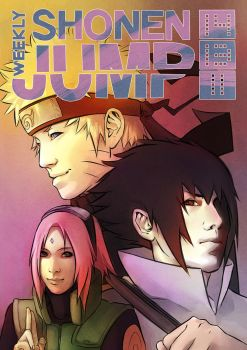 NARUTO Shonen Jump Cover by Bestrice