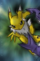 Renamon +colored+ by imp24