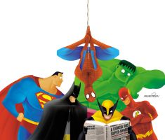 TheCienceofSuperHeroes by marchine