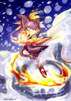 Dance with fire by tikal