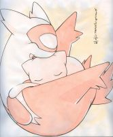 Mew and little Latias