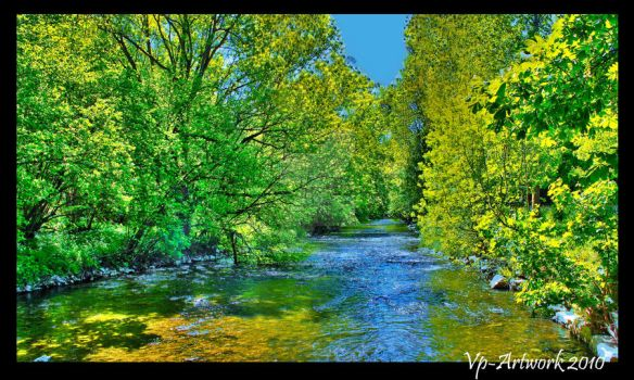 Fake summer river by VP-photography