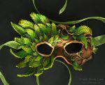 Chestnut Memory II - Leather Mask by windfalcon