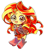 sunset shimmer chibi and VIDEO by memoneo