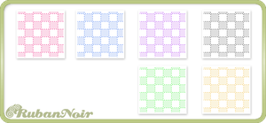 Pastel Dotted Cubes Pattern by Lady-Himiko