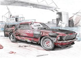 Ford Mustang 302 Boss  Post-Apocalyptic by CptSky