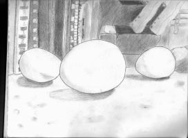 Eggs On Counter Top - Still Life by Scoochshot