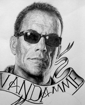Jean-Claude Van Damme Expendables poster by Damyanov
