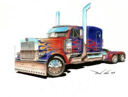 Optimus is Shiny and Clean by SeawolfPaul