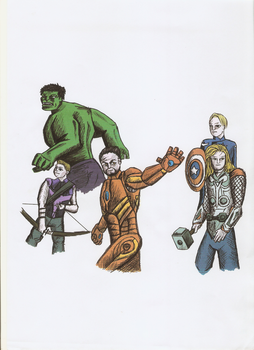 Avengers Cover Colour by Kurt-dstryr