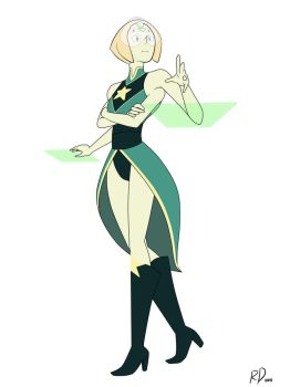 Fan Fusion: Pearl x Peridot by richdogan