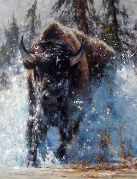'Charge' - Oil on Canvas By Robert Hagan by robert-hagan