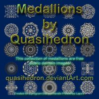QH-Medallions-Grayscale-Set#001 by quasihedron