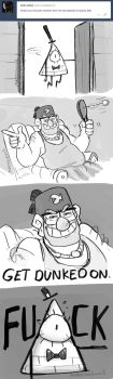 Gravity Falls- Get Dunked on Bill by MadJesters1