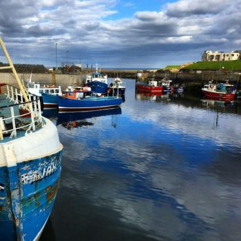 Seahouses fishing boats by day-seriani