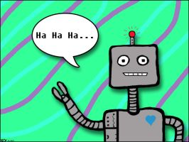 A Giggling Robot by MoonShotPhotos
