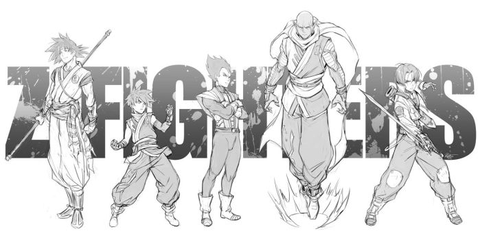 Z-fighters Timelapse video and prints by kasai