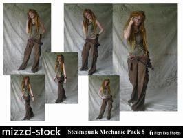 Steampunk Mechanic Pack 8 by mizzd-stock