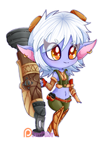 Tristana (+SPEEDPAINT) by Sweet-Pillow