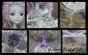 MH monster high repaint Lagoona Mermaid details by phairee004