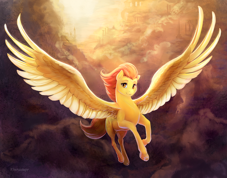Spitfire in the clouds by viwrastupr