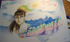 Her head is in the clouds... by Rutinka