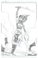 Psylocke commish from Anaheim by DrewEdwardJohnson