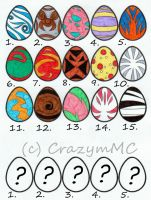 Adoptables ++ Digimon Eggs ++ Closed by CrazymMC