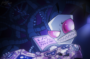 I'm doing something productive by Invader--ZIM