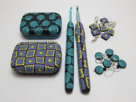 Polymer Clay Knit and Crochet Sets by noellewis