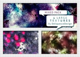 Mixed Pack  01 - 4 Large Textures by deliquescedesign