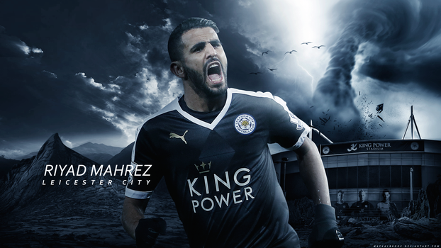 Riyad Mahrez Wallpaper by Mackalbrook