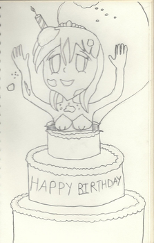 Cake Surprise!--B-Day Gift for Punisher2006 by TheHappySultan