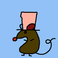 rat with h by muffaelucciole
