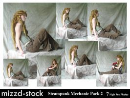 Steampunk Mechanic Pack 2 by mizzd-stock