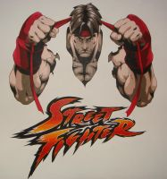 Street Fighter Mural by kinada73