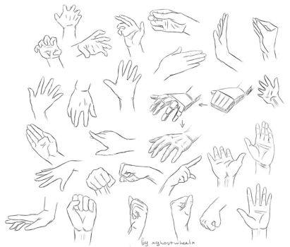 Hand study ref by xghostwheelx