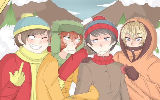 South Park Boys by SecretNarcissist